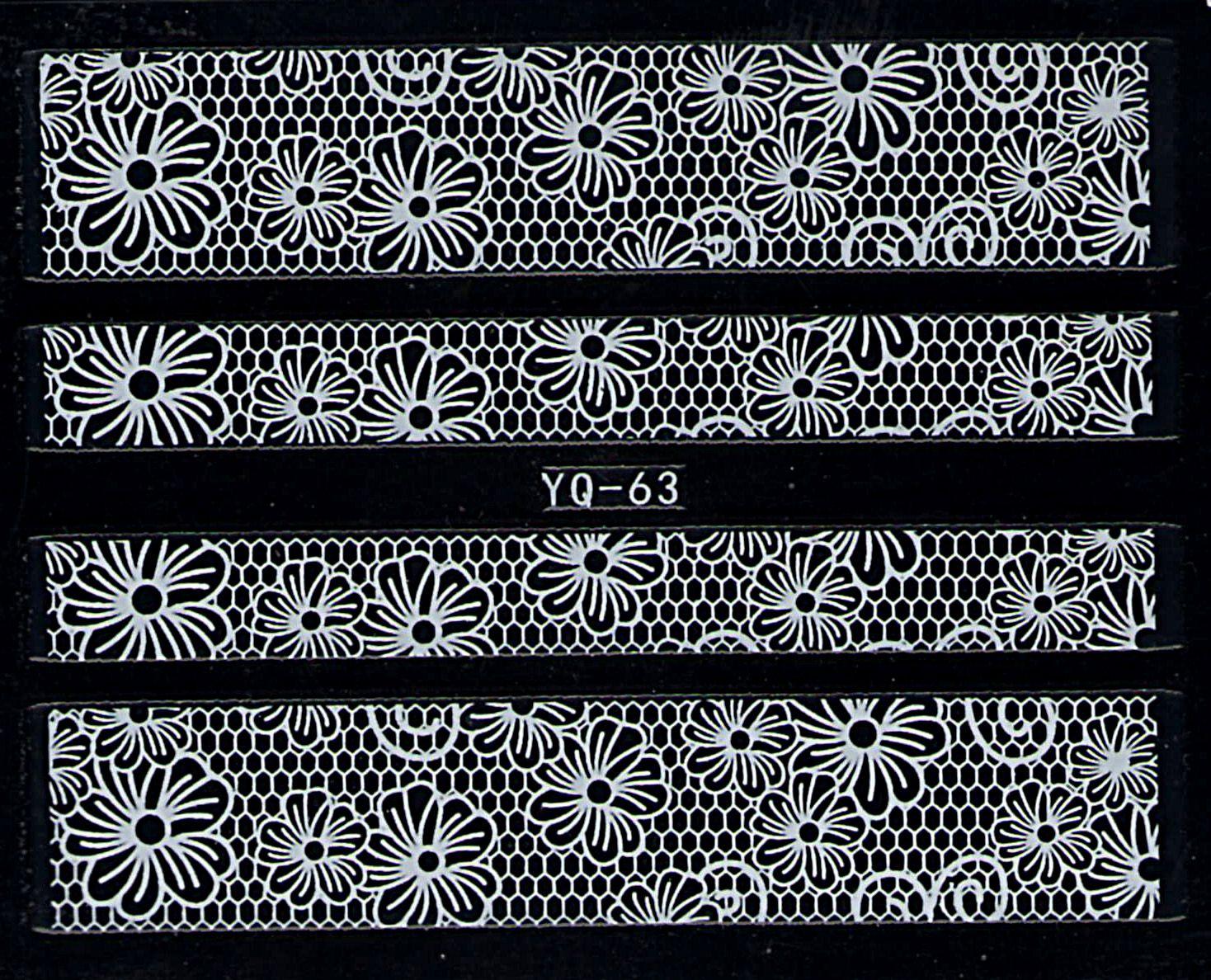 Nálepky na nechty čipky YQ-63
