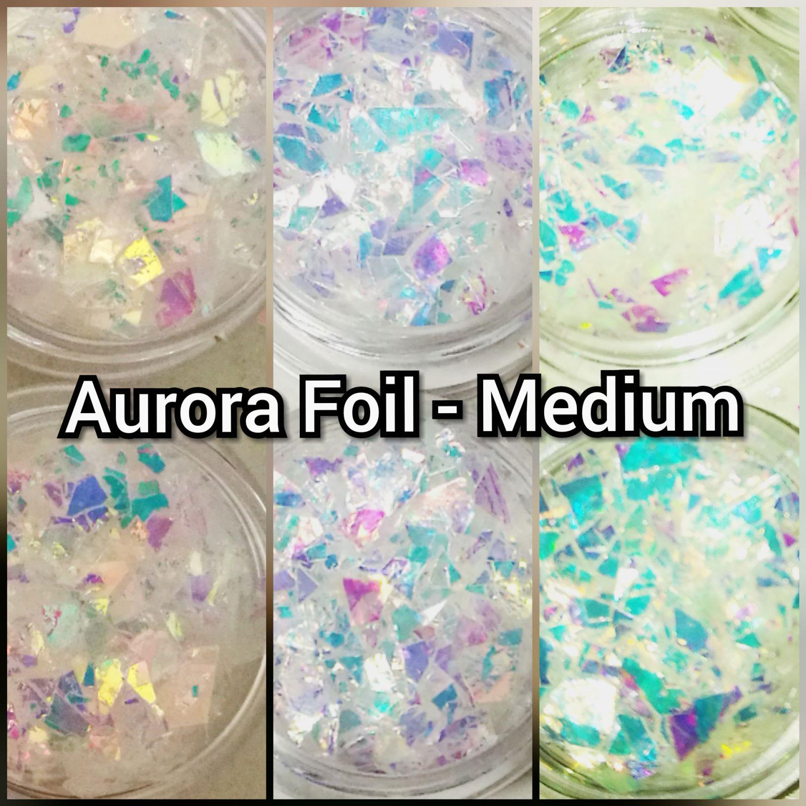 Drvení fólia na nechty Aurora Foil - Medium