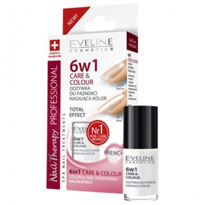 Eveline 6in1 Care & Colour - FRENCH Salon effect