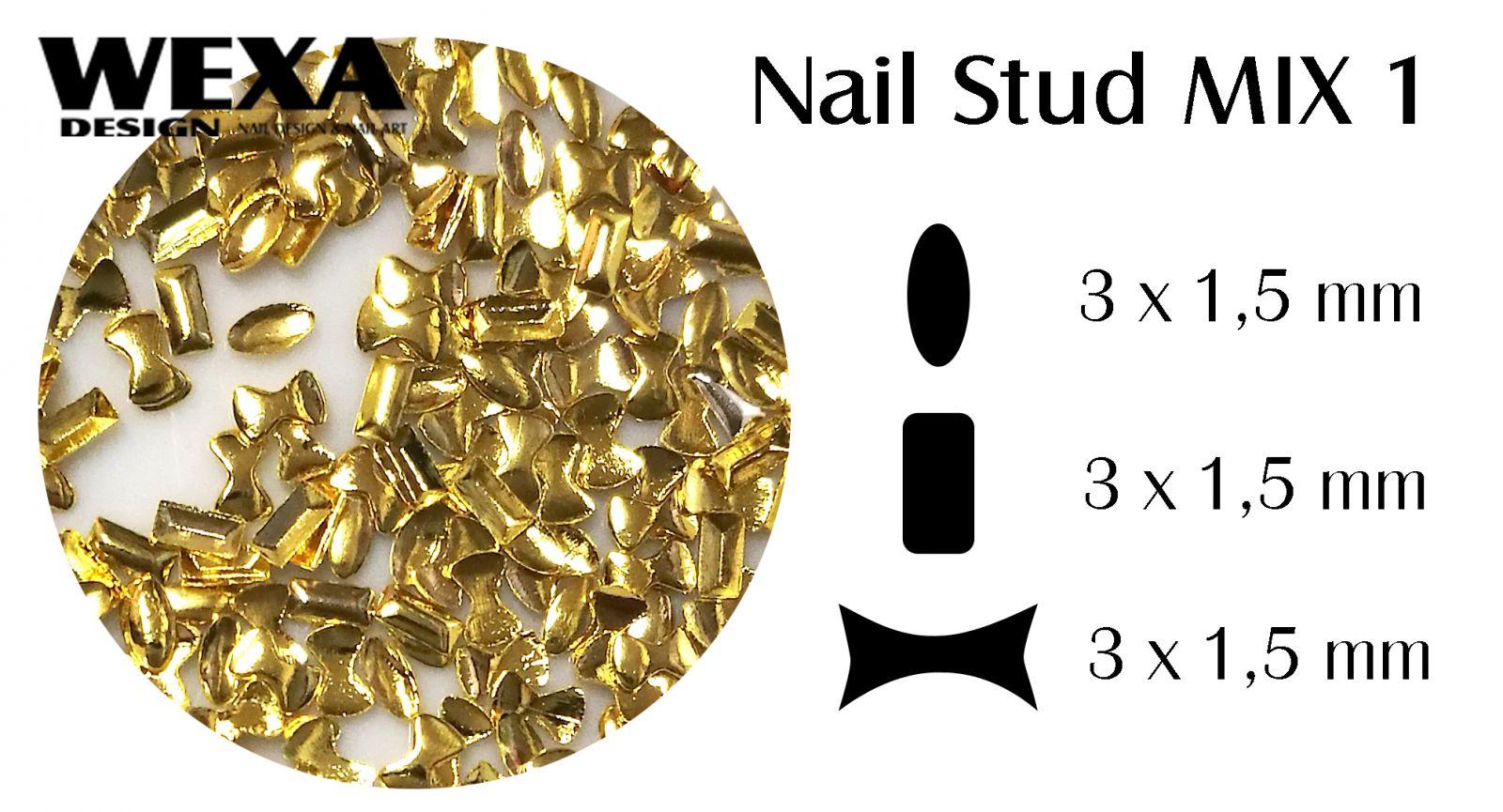 Kovová ozdoba na nechty - Nail Stud MIX 1