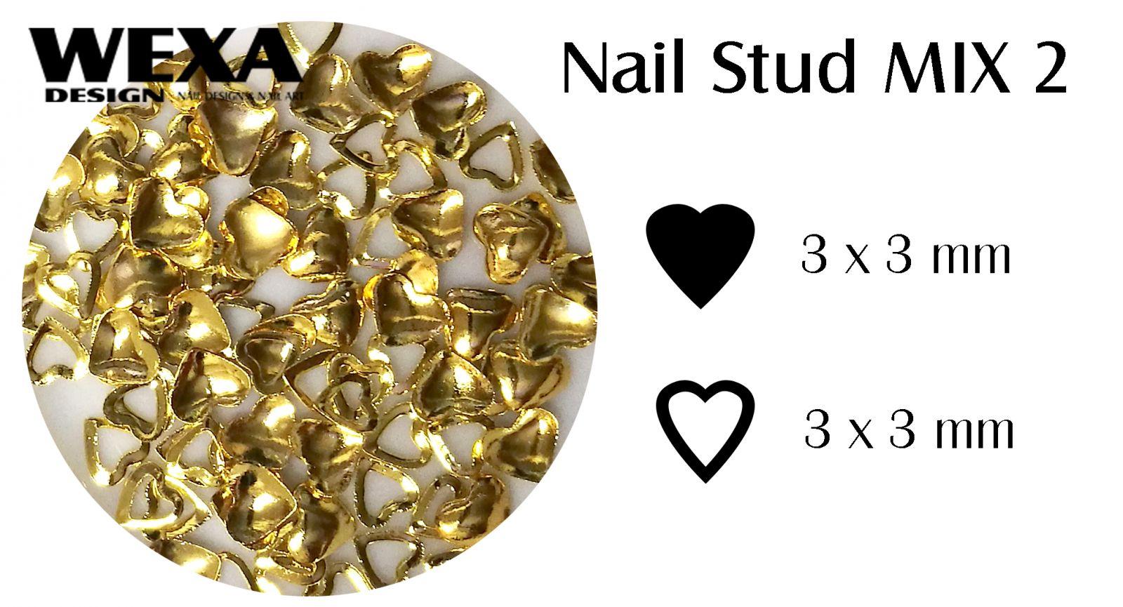 Kovová ozdoba na nechty - Nail Stud MIX 2