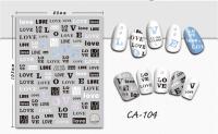 Nálepky na nechty - CA104 Love
