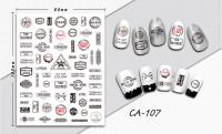 Nálepky na nechty - CA107 Fashion Stamp