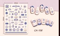 Nálepky na nechty - CA108 Navy