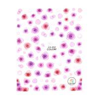 Nálepky na nechty - CA052 Kvietky