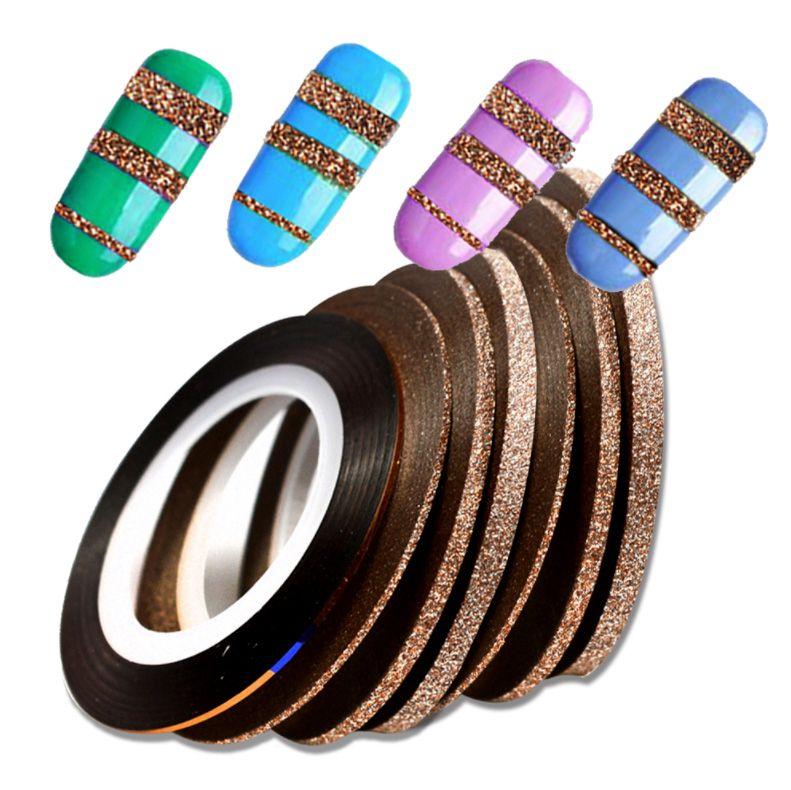 Samolepiaci pásik na nechty Glitter Cinamon