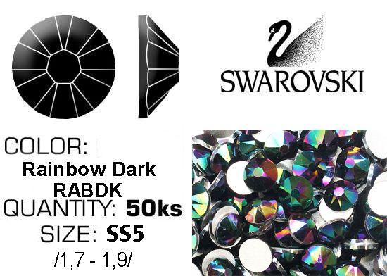 Swarovski F - Crystal Rainbow Dark (RABDK) SS5