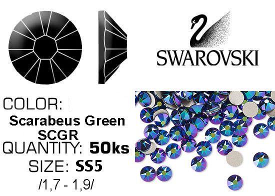 Swarovski F - Crystal Scarabeus Green (SCGR) SS5