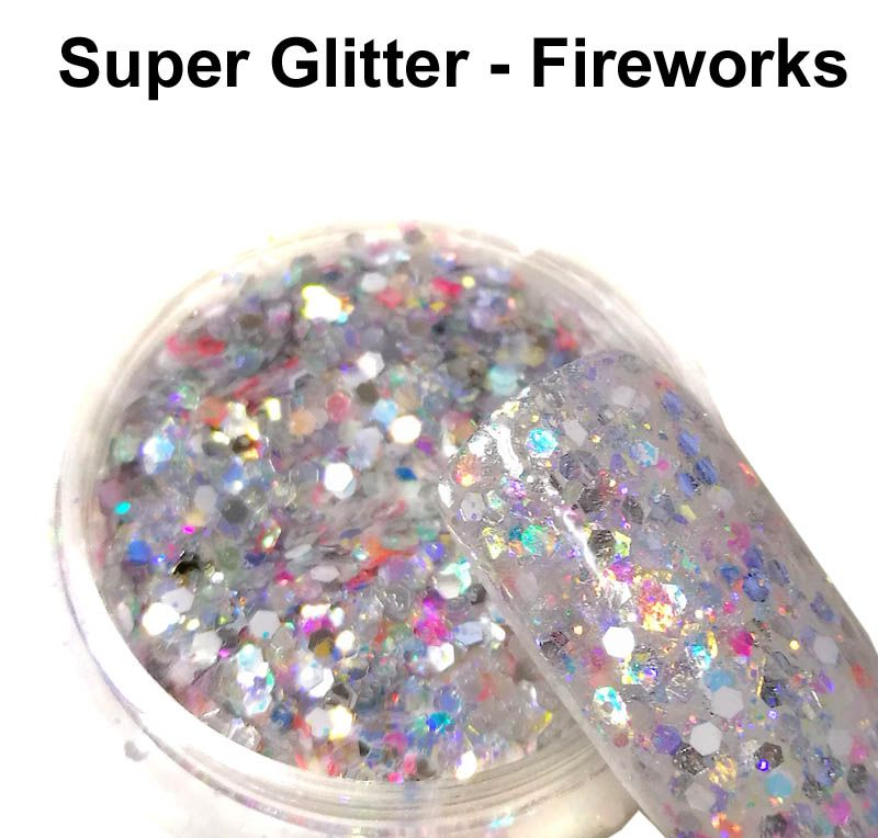 Trblietavý prášok na nechty Super Glitter - Fireworks