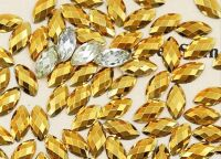 Akrylové kamienky - Horse Eye Gold 3x6mm