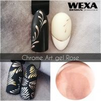 Chrome Nail Art gel - Rose