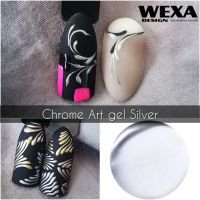 Chrome Nail Art gel - Silver