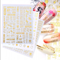 Gold Silicone Stickers CB-124