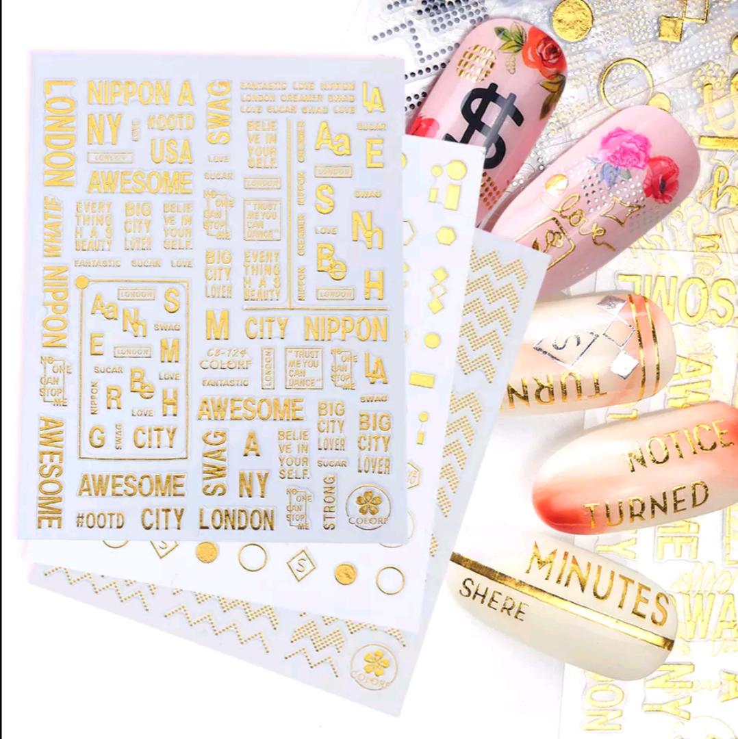 Gold Silicone Stickers CB-124