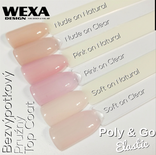Poly & Go Elastic Pink, Nude, Soft