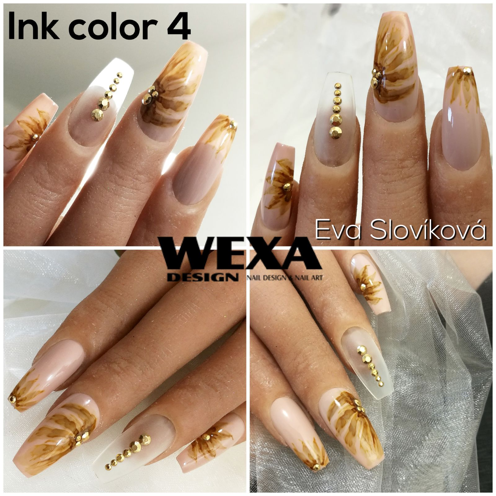Ink color na nechty 4 Sepia