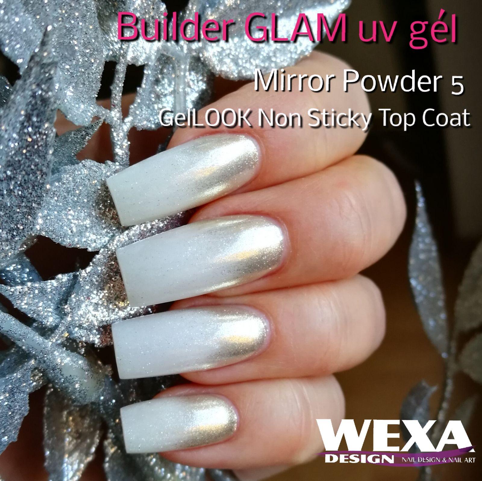 Mirror Powder 5 - chrómový zrkadlový prášok na nechty