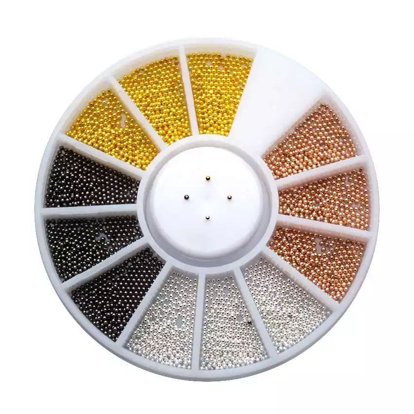 Perličky na nechty kolotoč 4 farieb