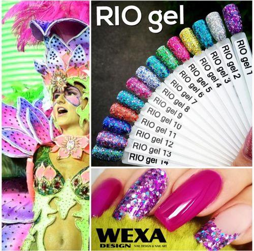RIO gel plný glitrov a trblietok