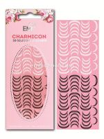 Charmicon 3D Silicone Stickers Lunula #12 Black/White