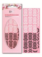 Charmicon 3D Silicone Stickers Lunula #16 Black/White