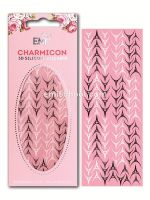 Charmicon 3D Silicone Stickers Lunula #30 Black/White