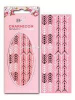 Charmicon 3D Silicone Stickers Lunula #34 Black/White