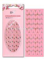 Charmicon 3D Silicone Stickers Lunula #35 Gold/Silver