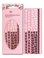 Charmicon 3D Silicone Stickers Lunula MIX #24 Black/White