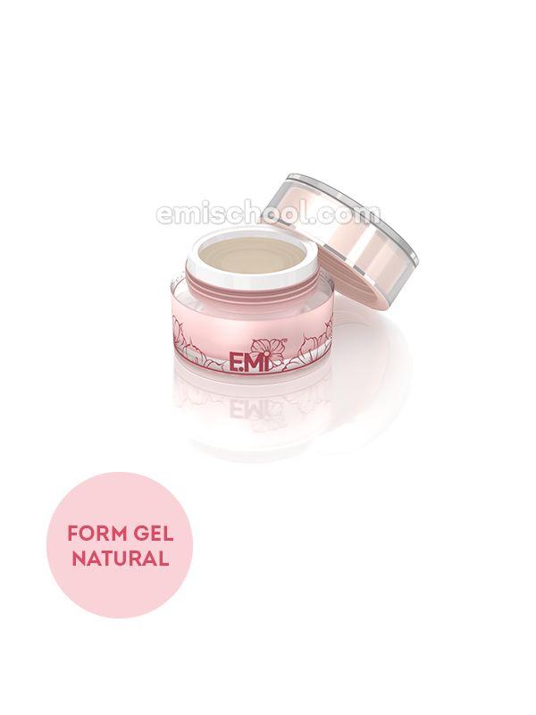 Form Gel Natural - gel na prodloužení a rekonstrukci volného okraje nehtu na šablonách, 5 g.
