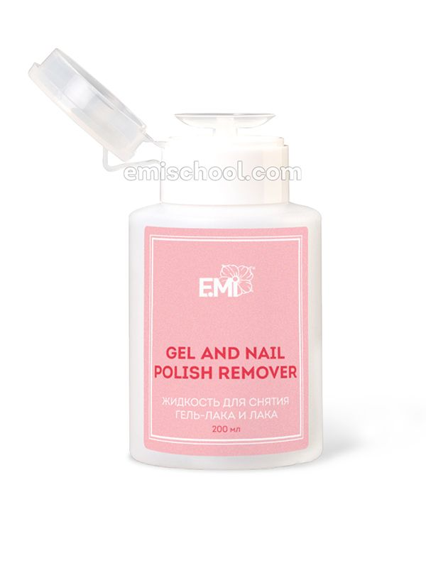 Gel and Nail Polish Remover s dávkovačem 200 ml.