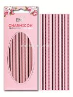 Charmicon 3D Silicone Stickers Chain #7 Black/White