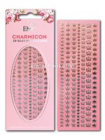 Charmicon 3D Silicone Stickers Crowns Gold/Silver