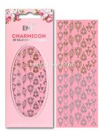 Charmicon 3D Silicone Stickers Jewelry #1 Gold/Silver