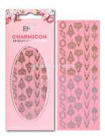 Charmicon 3D Silicone Stickers Jewelry #2 Gold/Silver