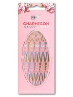 Charmicon 3D Silicone Stickers #37 Geometry Gold/Silver