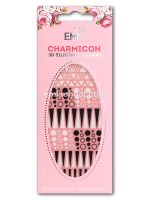 Charmicon 3D Silicone Stickers #38 Geometry Black/White