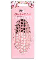 Charmicon 3D Silicone Stickers #66 Leaves Black/White
