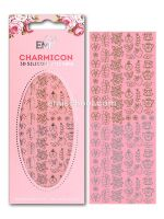 Charmicon 3D Silicone Stickers Jewelry #5 Gold/Silver