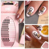 Charmicon 3D Silicone Stickers #39 Geometry Gold/Silver