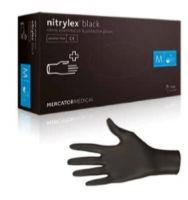 Nitrilové rukavice nepudrované Black - 1 box (50 párov)