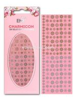Charmicon 3D Silicone Stickers Snowflakes #1  Gold/Silver