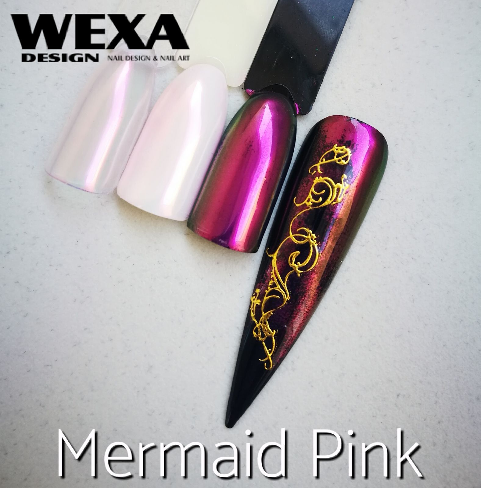 Mirror Powder na nechty Mermaid Pink