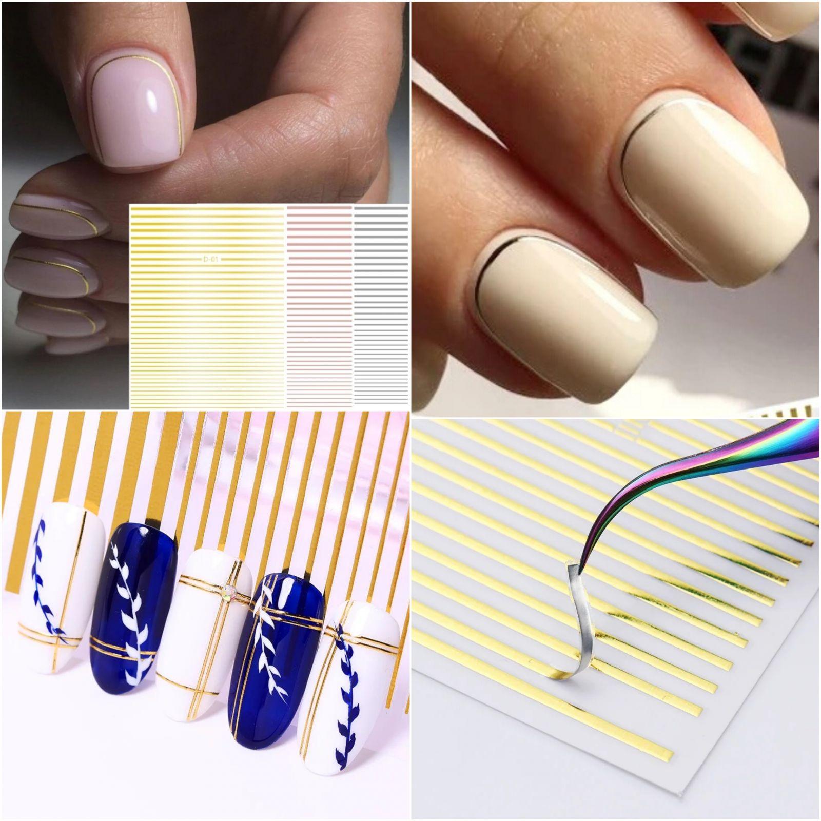 Pružné silikónové pásiky na nechty