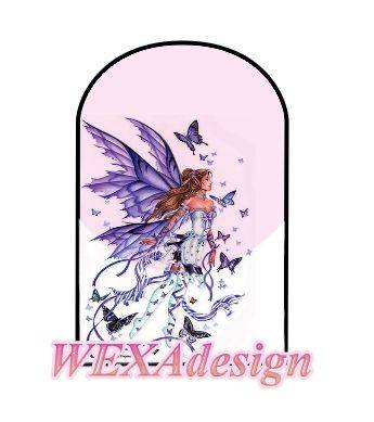 Nail Tattoos - Butterfly Fairy Blue S -9