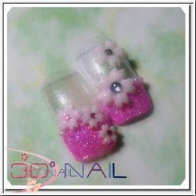 3D formička na nechty - Cherry Blossoms 001
