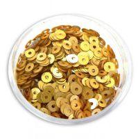 Konfety flitre CD - V zlaté matné L217