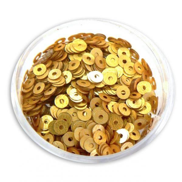 Konfety flitre CD - V zlaté matné