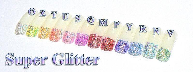 Super Glitter - Y - fialkový
