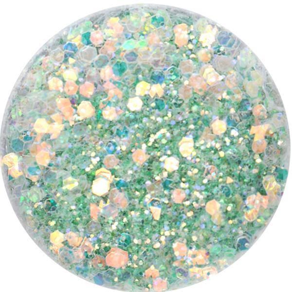 Super Glitter - V - zelenkavý
